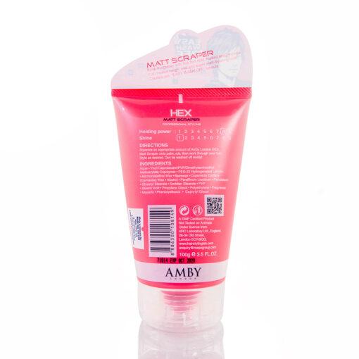 Amby Hex Matt Scraper (Pink) 100g Hair Wax Men 2020