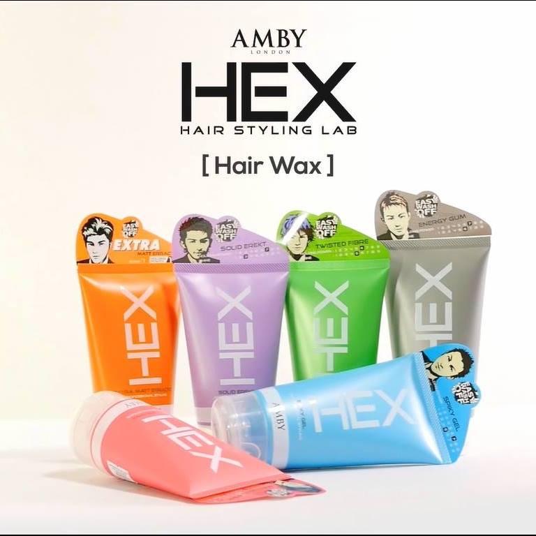 [Bundle of 2] Amby Hex Spiky Gel (Blue) 150g Hair Gel Men 2020